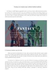 Fantacy for online fashion world.pdf