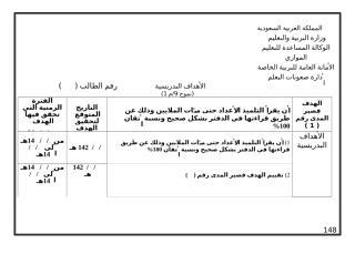 الأهداف التدريسية للمستوى الخامس.doc