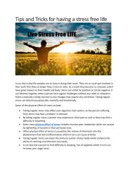 Tips and Tricks for having a stress free life.pdf
