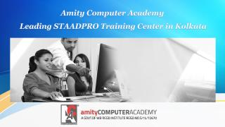 Leading STAADPRO Training Center in Kolkata.pdf