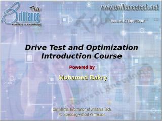 BTD090208 Drive Test Course.ppt