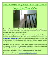The Importance of Stairs For Any Type of Property Is Undeniable.pdf