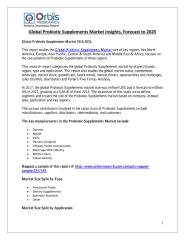 Global Probiotic Supplements Market Insights, Forecast to 2025.pdf