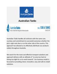 Water Storage Harvesting - Australian Tanks.docx