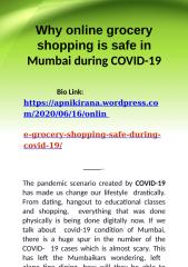 Why online grocery shopping is safe in Mumbai during covid-19.pptx