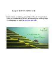 5 ways to Go Green and Save Earth  - Leaftrend.pdf