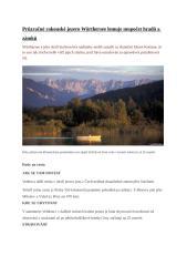 Průzračné rakouské jezero Wörthersee lemuje nespočet hradů a zámků.docx